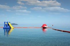 Water slide seascape Stock Photos