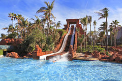 The water slide structure in Paradise Island, The Bahamas Royalty Free Stock Photo