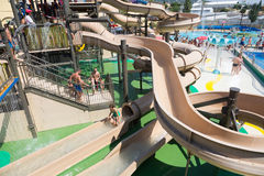 Water slide at  Water Park Royalty Free Stock Image