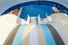 Water slide. In the waterpark Royalty Free Stock Photo