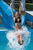 In the water slides Royalty Free Stock Photo