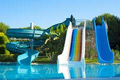 Water Slides. In Antaiyan Hotel Stock Images