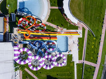Water slides from above Stock Images