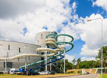 Water slides of the Aquapark in Druskininkai Royalty Free Stock Images