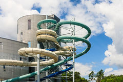 Water slides of the Aquapark in Druskininkai, Lithuania Stock Photography