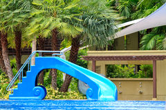 Water slides in the garden Stock Photo