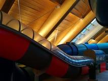 Water slides indoor Stock Photos