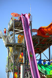 Water slides summer fun Stock Images