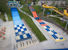 Water Slides at Water World Amusement Park Royalty Free Stock Photography