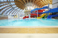 Water slides in waterpark Caribia Royalty Free Stock Photos