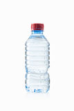 Water. Small plastic water bottle on white background Royalty Free Stock Images