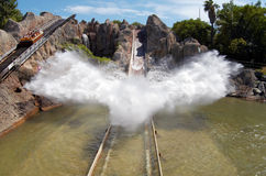 Water smash in amusement park Royalty Free Stock Image