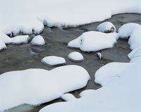Water and Snow Royalty Free Stock Photos