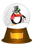 Water Snow Globe penguin Candy Cane Illustration Royalty Free Stock Image