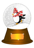 Water Snow Globe Penguin Ice Skating Illustration royalty free illustration