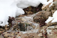 Water and snow Stock Image