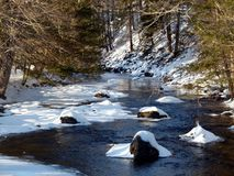 Water, Snow, Stream, Nature stock photography