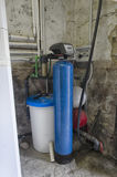 Water softener and other components. View of water softener and other components Royalty Free Stock Photo