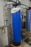 Water softeners in industrial plant Stock Photos