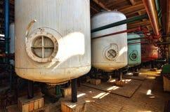 Water softening process Stock Photos