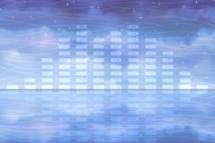 Water sound equalizer Royalty Free Stock Image