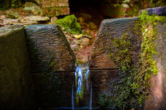 Water source. Photo pure natural water source in nature Stock Photos