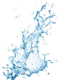 Water splash. Blue water splash isolated on white background Royalty Free Stock Photo