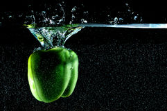 Water splash. Photo of water splash on a black background Stock Image