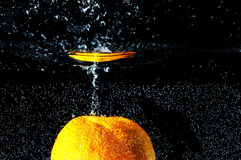 Water splash. Photo of water splash on a black background Royalty Free Stock Photo