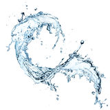 Water splash. Over white background royalty free illustration