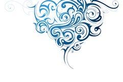 Water splash. Decorative water splash shaped from swirls Stock Images