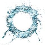 Water splash. Blue water splash isolated on white background Royalty Free Stock Images
