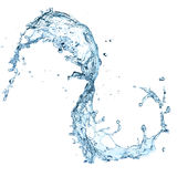 Water splash. Over white background vector illustration
