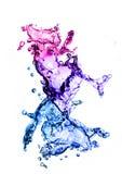 Water Splash!. Colourful water splash on white background Stock Photo