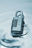 Water splash. And number lock Royalty Free Stock Photo