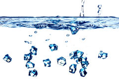 Water splash. Simple water splash in abstract blue color royalty free stock photography