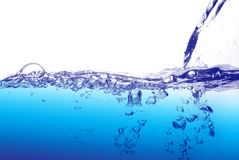 Water splash. Clear water splash background isolated Royalty Free Stock Photo