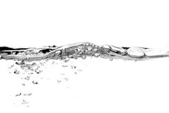 Water splash. Clear water splash background isolated Royalty Free Stock Image