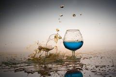 Water Splash. Simple still life Royalty Free Stock Photography