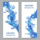 Water Splash Banner Stock Photo