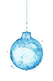 Water splash bauble Royalty Free Stock Image