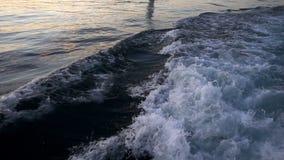 Water Splash behind Ferryboat. Video stock video