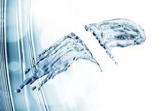 Water splash on blue background Stock Images