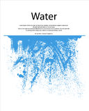 Water Splash. Blue water splash with freezing motion stock illustration