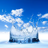 Water splash blue sky Stock Photography