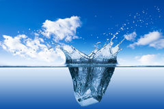 Water splash blue sky Royalty Free Stock Photos