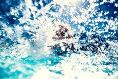 Water splash. Blurred background Stock Image