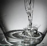 Water splash in a bowl Stock Images