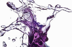 Water Splash Cat. Water splash with cat face figure in upper left Royalty Free Stock Images