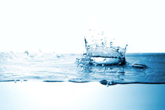 Water splash with crown form Stock Image